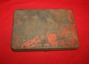 Vintage Snap On Socket Wrenches Metal Red Tool Case