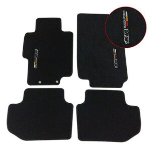 Fit For 03 07 Honda Accord Black Nylon Floor Mats Carpets W Mugen