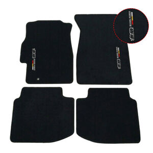 Fit For 96 00 Honda Civic Black Nylon Floor Mats Carpets W Mugen