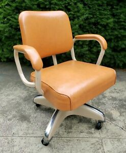 Vintage Hamilton Cosco 1960 Mid Century Industrial Office Desk Tanker Chair