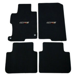 Fit For 13 17 Honda Accord Black Nylon Floor Mats Carpets W Mugen