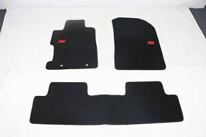 Fit For 06 11 Honda Civic 2dr 4dr Black Nylon Floor Mats Carpets W Red Si