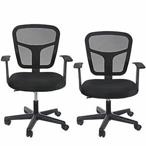 2x Mid Back Mesh Adjustable Drafting Chair With Foot Standing Desk Ergonomic