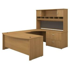 Bush Business Furniture Series C 72w Right Handed Bow Front U Shaped Desk