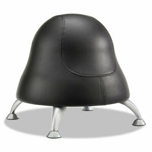 Runtz Ball Chair Black Seat black Back Silver Base