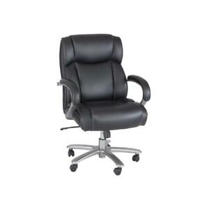 Big Tall Mid back Chairs 400 Lb Capacity Black