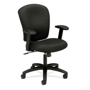 Hon Mid Back Task Chair Fabric Computer Chair With Arms For Office Desk