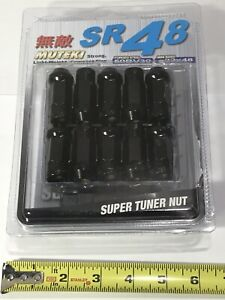 Muteki Sr48 Black Chrome 12x1 5 48mm 20 Pcs Lug Nuts Set
