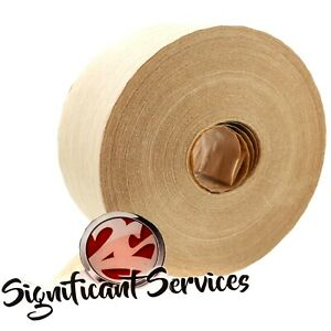 Water Activated 70mm X 500 Reinforced Kraft Carton Sealing Shipping Box Tape