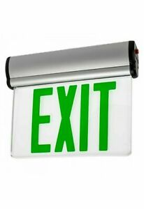 T b Emergi lite Png6 Universal Mirror Edge lit Green Led Emergency Exit Sign Nos
