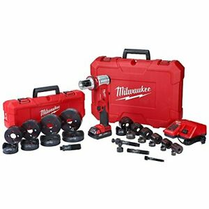 Milwaukee M18 18 volt Lithium ion 1 2 To 4 6 Ton Knockout Tool Kit W die Set