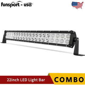 22inch 120w Led Work Light Bar Spot Flood Combo Offroad Pickup Truck Suv 4wd 24