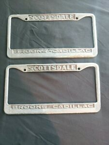 Collectible Rare Vintage Scottsdale Brooks Cadillac License Plate Holder 2