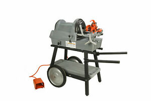 Reconditioned Ridgid 1822 i Auto Chuck Pipe Threading Machine With 150a Cart