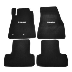 Fit For 05 09 Ford Mustang Black Nylon Floor Mats Carpets W Mustang