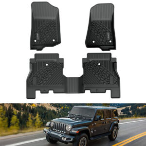 Lasift Floor Mats Liners For Jeep Wrangler Jl 2018 2021 All Weather Tpe Rubber