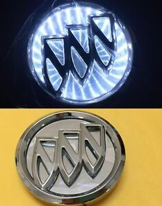 3d Led Car Logo White Light Auto Badge Rear Emblems Lamp For Buick Excelle Gt