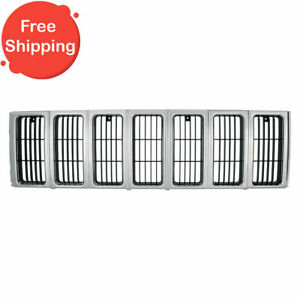 New For Jeep Cherokee Front Grille Chrome Black Fits 2000 01 Ch1200227 55156028a