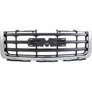 New For Gmc Sierra 1500 Front Grille Chrome Fits 2007 2013 Gm1200573 22761792