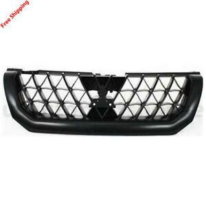 New For Mitsubishi Montero Sport Front Grille Black Fits 2000 2001 Mi1200226