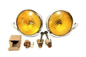 Vintage 1930 s 1940 s Gm Accessory Guide Fog Lamps Amber Nos