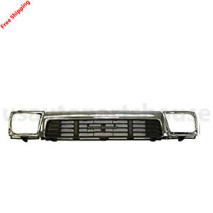 New For Toyota Pickup 4runner Fits 1989 91 Front Grille Headlamp Door Set 3pc