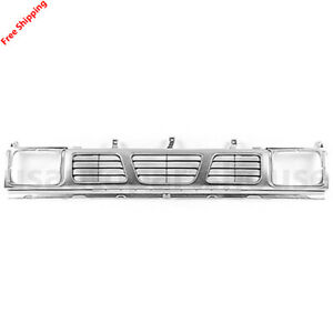 New For Nissan D21 Pickup 4 door Grille Dark Silver Fits 1993 1994 Ni1200115