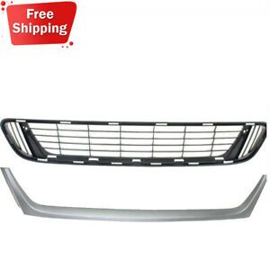 New Front Bumper Lower Grille Silver Molding For 2013 2016 Toyota Venza 4 door
