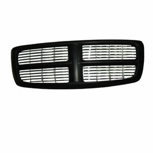 New For Dodge Ram 1500 2500 3500 Front Black Grille Fits 2002 2005 Ch1200259