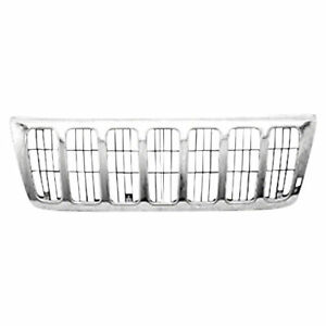 New For Jeep Grand Cherokee Chrome Grille Fits 1999 2003 Ch1200221 55155921ab