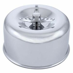 2 5 16 Single Barrel Chrome Short Neck Smooth Air Cleaner W 3 Wing Screw