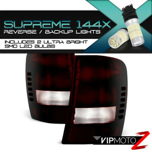 360 Degree Smd Backup rosso Red Smoke for 99 04 Jeep Grand Cherokee Tail Lamp