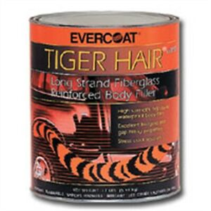 Tiger Hair Long Strand Fiberglass Reinforced Body Filler Gallon Fib1190 New