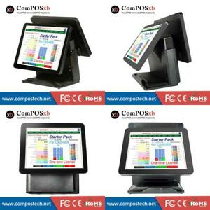 Dual Screen 15 15 Inch Pos Terminal All In One Pos System Touch Screen Pc