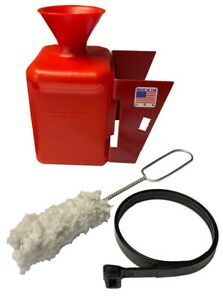 Red Lube Bottle Bracket Swab Kit For Tire Changer Tower Mount Bucket Made In Usa