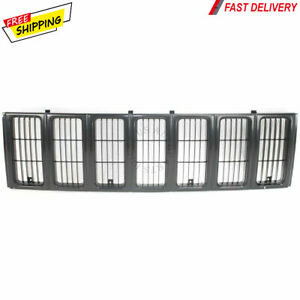 New Front Grille Black For 1997 2001 Jeep Cherokee Se Sport Ch1200208 55055150