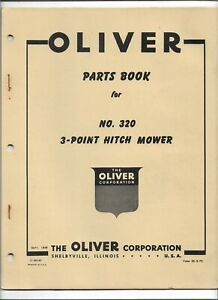 Original Oliver 320 3 point Hitch Mower Parts Catalog Form S5 9 p2 Dated 09 1956