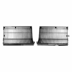 New For Oldsmobile Cutlass Supreme Grille Chrome Black Fits 1986 Gmk4562050862p