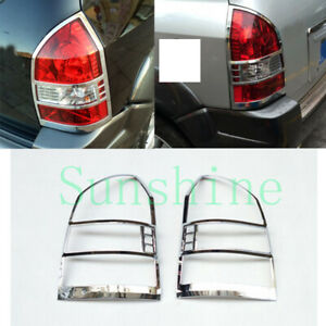 2x For Hyundai Tucson 2005 2009 Car Left right Abs Silvery Taillight Cover Trim