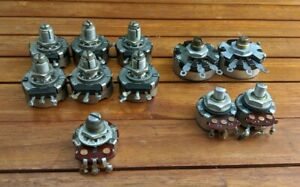 Lot Of 11 Vintage Potentiometers 8 5k Linear 2 550k Audio 1 100k Linear