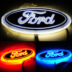 Waterproof 4d Car Led Logo Light Auto Badge Rear Emblems Lamp For Ford Escort