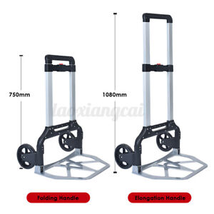 330lbs Portable Cart Folding Dolly Push Truck Hand Trolley Collapsible Luggage
