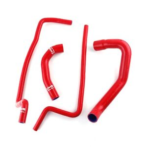 Fit 1997 2006 Jeep Wrangler Tj 4 0l Lhd Red Silicone Radiator Heater Hose Kit