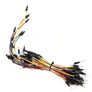 65pcs Male To Male Solderless Flexible Breadboard Jumper Cable Wire For Arduino