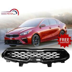 Fits 2019 2020 Kia Forte Front Upper Factory Style Black Mesh Chrome Trim Grille