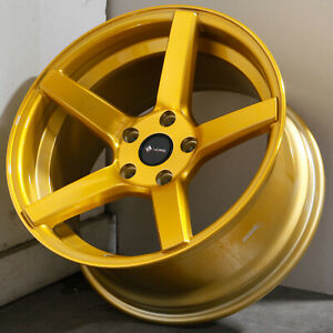 18x9 5 Candy Gold Wheels Vors Tr5 5x120 35 Set Of 4 73 1