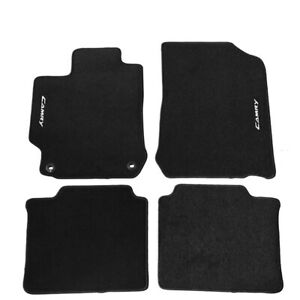Fit For 12 17 Toyota Camry Black Nylon Floor Mats Carpets W White Camry