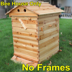 Upgraded Super Beehive Brood Box Bee House For 7pcs Free Move Honey Hive Frames
