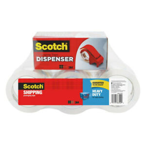 Scotch Heavy duty Shipping Packing Tape With Dispenser 1 7 8 X 54 6 Yd Clea
