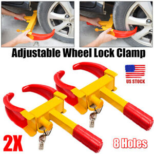 2pack Outdoor Wheel Clamp Lock Boot Tire Claw Trailer Auto Car Truck Anti Theft